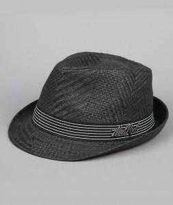 Black Straw Fedora Hats for Men
