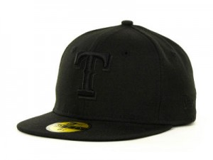 Black Texas Rangers Hat