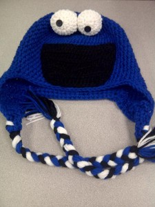 Cookie Monster Knit Hat