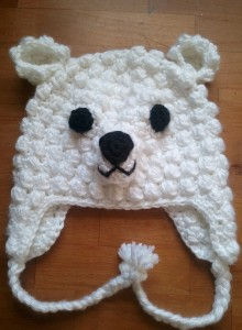 Crochet Polar Bear Hat