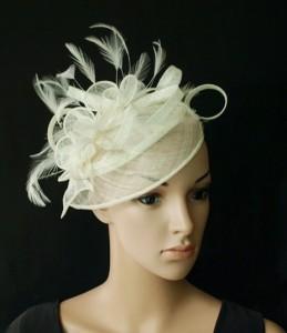 Fascinator White Hat