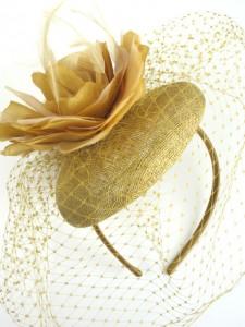 Gold Fascinator Hat