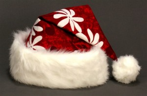 Hawaiian Santa Hats