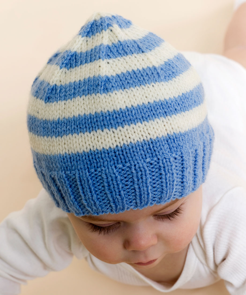 Free Baby Beanie Knitting Pattern : Knitting Hats   Tag Hats
