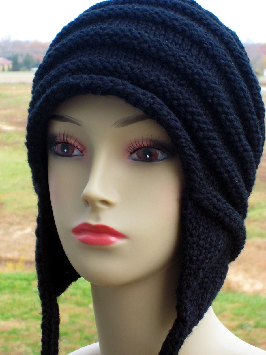 Knitted Hat Patterns With Ear Flaps : Knitting Hats   Tag Hats