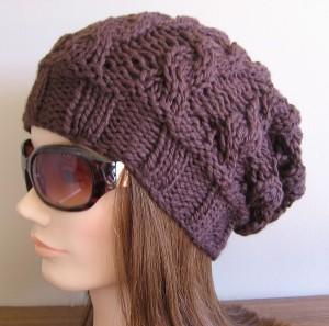 Knit Slouch Hat Pattern