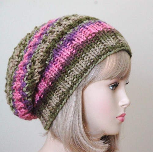 Free Knit Pattern For Boot Toppers : Slouchy Hats   Tag Hats