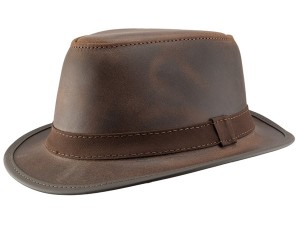 Leather Fedora Hats for Men