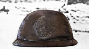 Leather Versace Hat