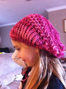 Loom Knit Slouchy Hat