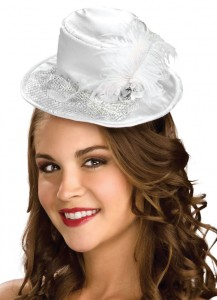 Mini White Top Hat