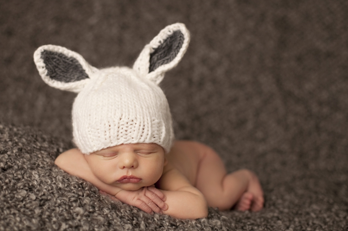 Newborn knit hats