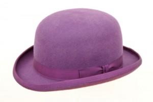 Purple Bowler Hat