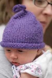 Purple Hats for Babies