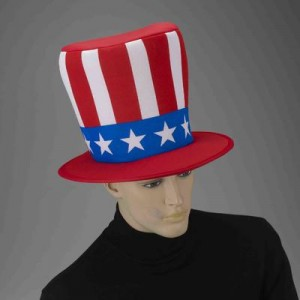 Red White and Blue Top Hat