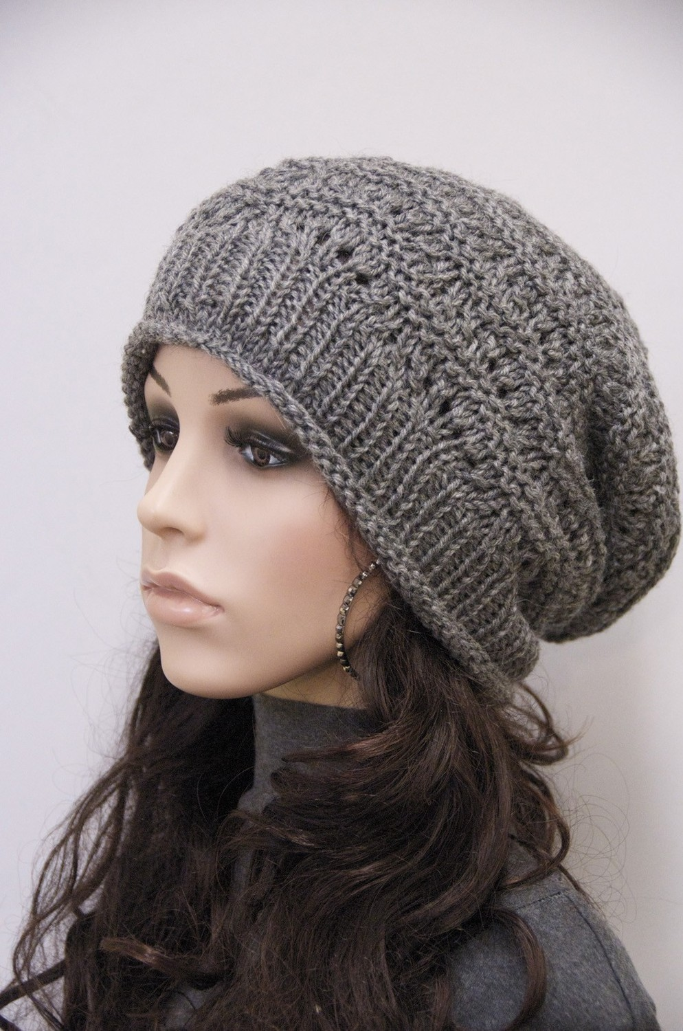 Free Knit Pattern For Boot Toppers : Slouch Hats   Tag Hats