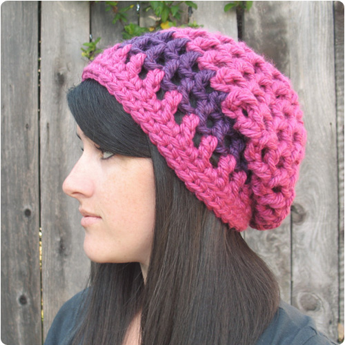 Crochet Pattern Slouchy Beanie Pakbit For