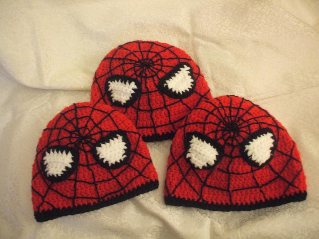 Free Spiderman Knitting Patterns : Spiderman Hats   Tag Hats