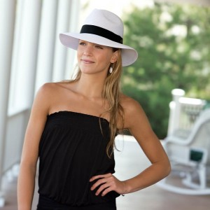 White Fedora Hat for Women