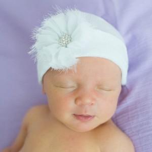 White Newborn Hat