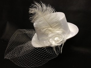 White Top Hat With Veil