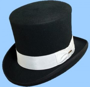 White and Black Top Hat