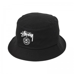 Black Bucket Hat Stussy