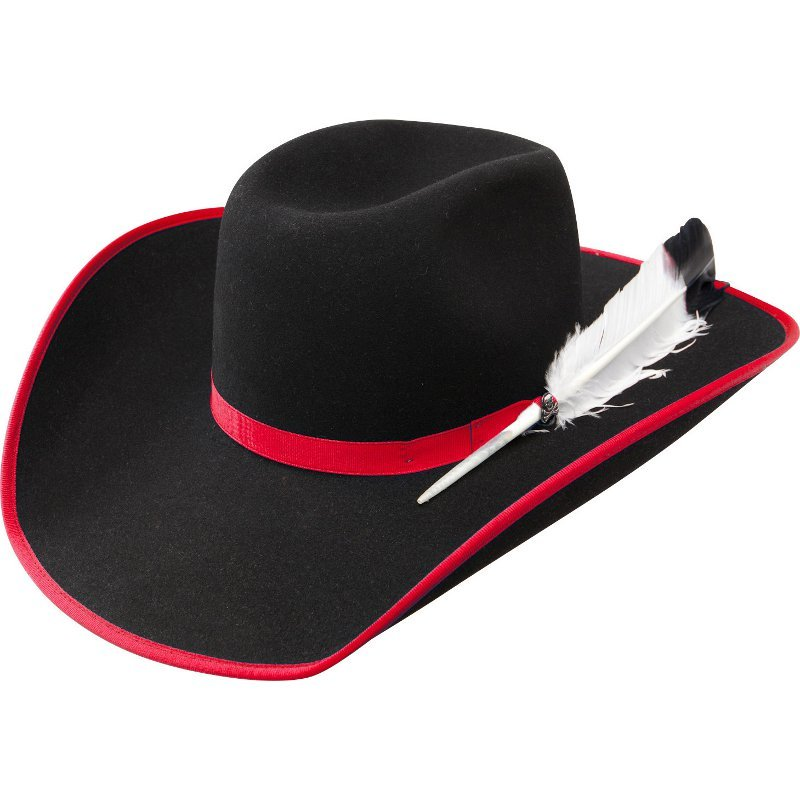 Black Cowboy Hat with Red Trim 82c2cde91ea