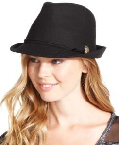 Black Fedora Hat for Women