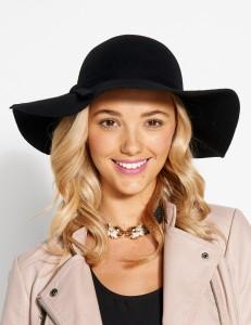 Black Floppy Felt Hat