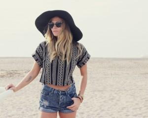 Black Floppy Hat Beach