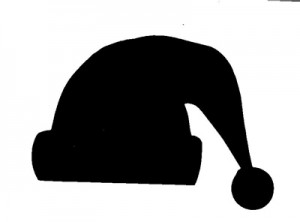 Black Santa Hat