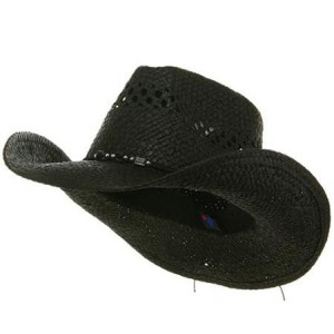Black Straw Cowboy Hat