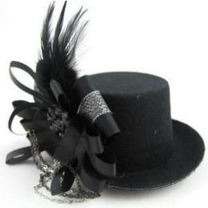 Black Top Hat Fascinator