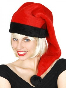 Black and Red Santa Hat