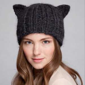 Knit Hat With Animal Ears Pattern : Ear Hats   Tag Hats