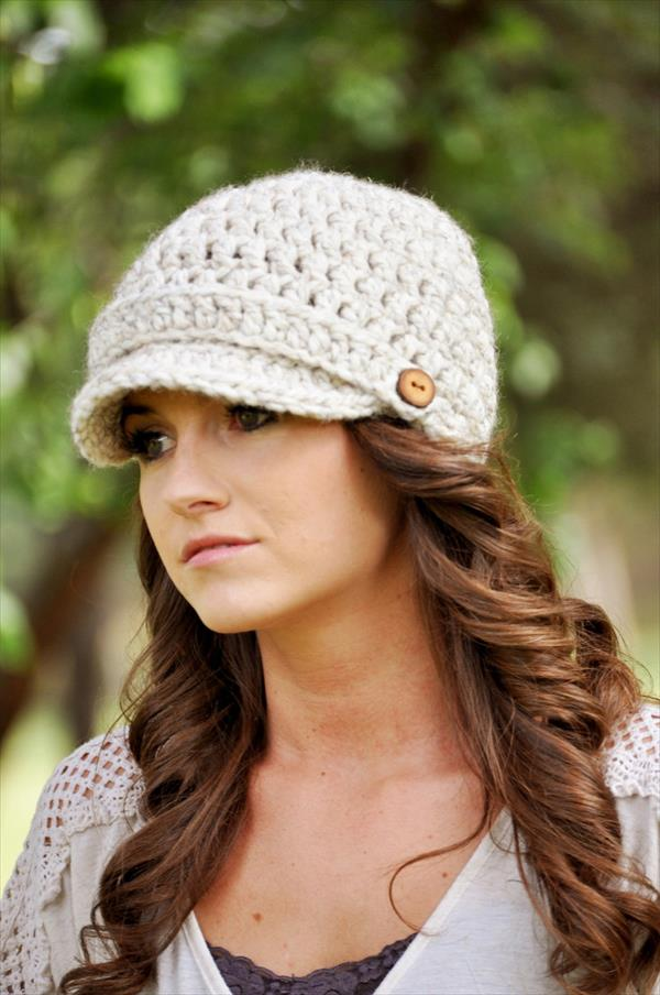 Crochet Pattern Womens Hat : Newsboy Hats ? Tag Hats