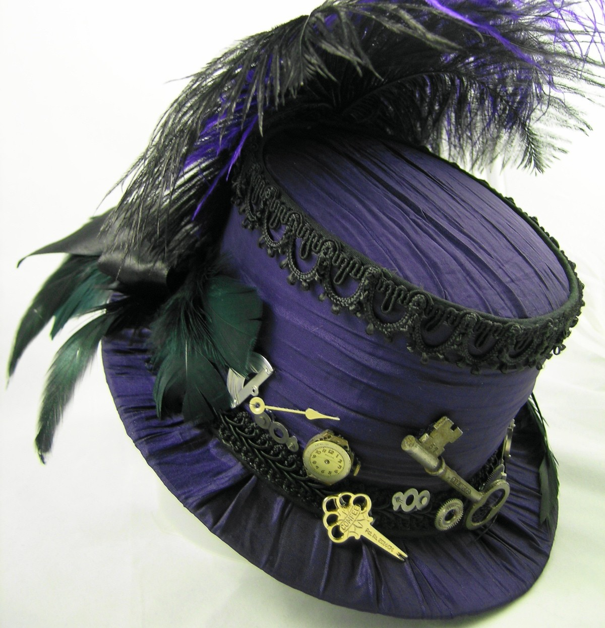 Ladies Steampunk Top Hat Hats Tag