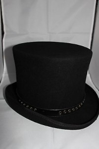 Mens Black Top Hat