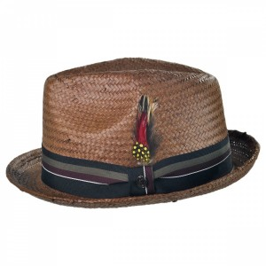 Mens Fedora Straw Hat