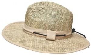 Mens Wide Brim Straw Hat