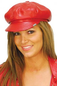 Red Newsboy Hat