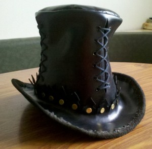 Steampunk Leather Top Hat