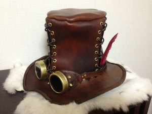 Steampunk Top Hat with Goggles