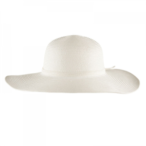 White Wide Brim Hat