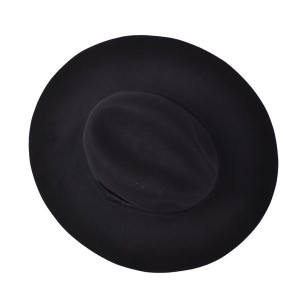 Wide Brimmed Black Hat
