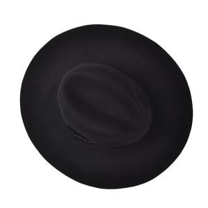 Wide Brimmed Black Hat