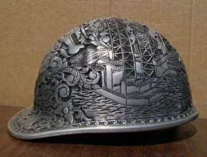 Aluminum Hard Hat Engraved