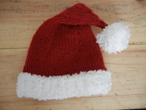 Baby Santa Hat Knitting Pattern