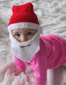 Baby Santa Hat with Beard